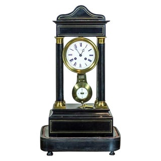 19th Century French Mantel Clock, Signed H. Lefoye For Sale