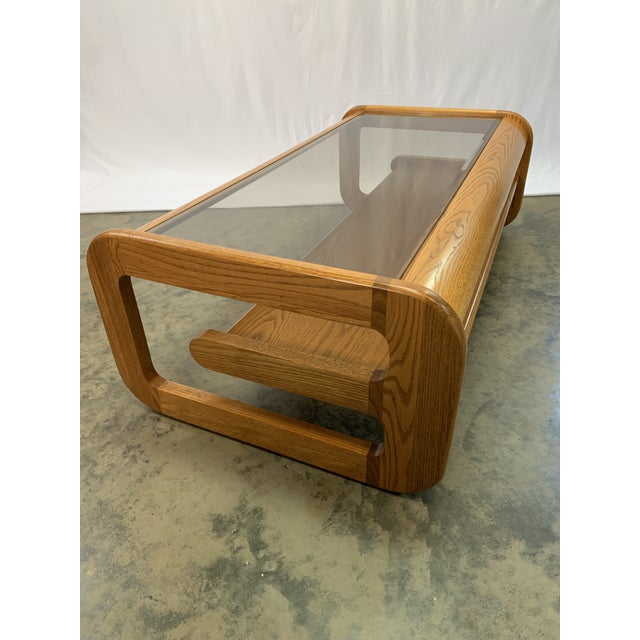 Mid-Century Modern 1970s Mid-Century Modern Lou Hodges Oak Coffee Table For Sale - Image 3 of 7