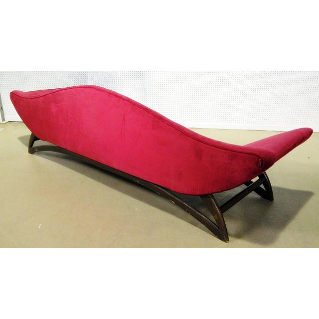 Red Adrian Pearsall Gondola Style Upholstered Sofa For Sale - Image 8 of 12