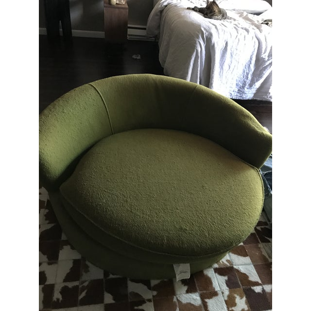 Vintage Green Oversized Chair - Image 4 of 6