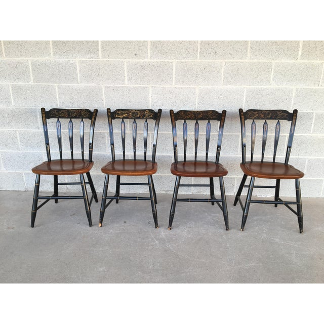 L Hitchcock Black Harvest Arrow Back Side Chairs Set Of 4 Chairish