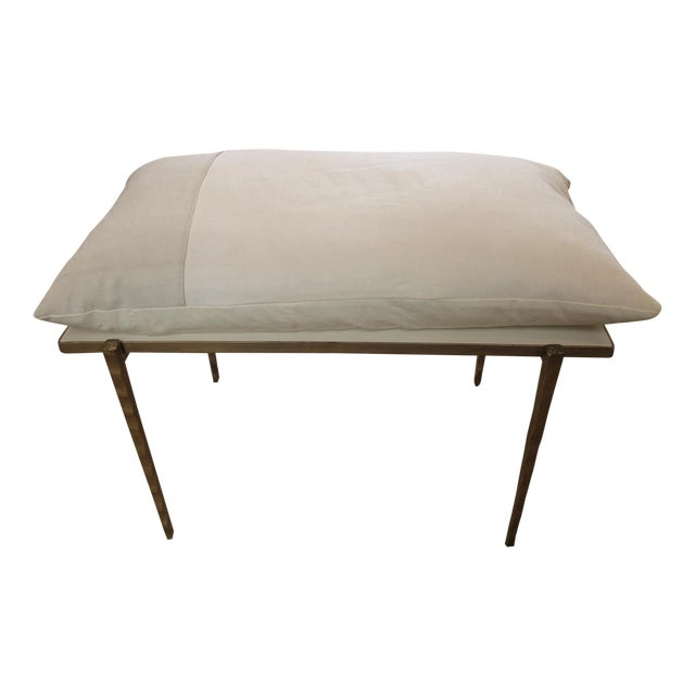 Handmade Steel Pillow Bench - Image 1 of 7