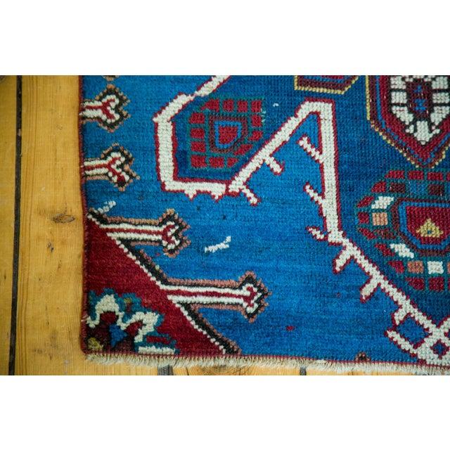 """Antique Caucasian Rug Mat Fragment - 2'5"""" x 2'11"""" - Image 3 of 5"""