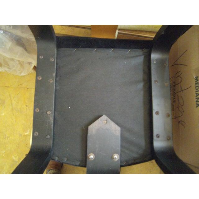 Vintage Black on Black Mohair Thonet Chair - Image 6 of 8