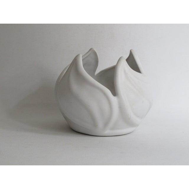 Van Briggle White Ceramic Vessel For Sale - Image 5 of 7