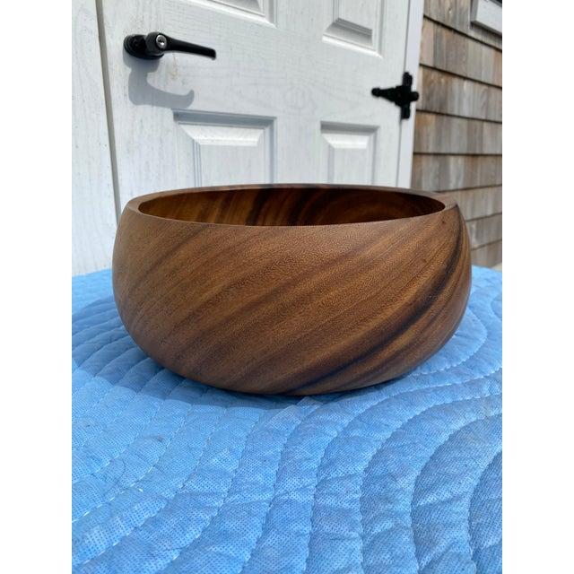 Sienna Mid 20th Century Hardwood Hawaiian Bowl For Sale - Image 8 of 8