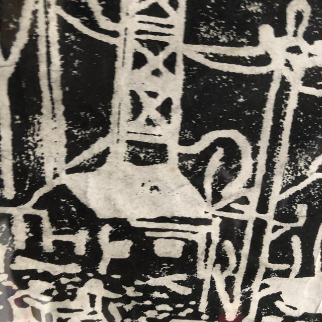 """1980s 1980s Chinese Student Woodcut """"My Polluted Homeland"""" For Sale - Image 5 of 8"""
