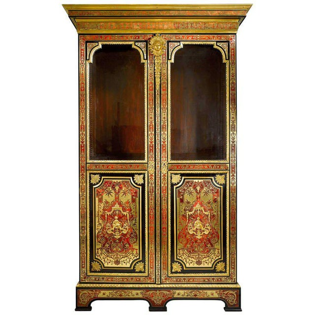 Brass Stamped Boulle Cabinet by Nicolas Sageot For Sale - Image 7 of 7