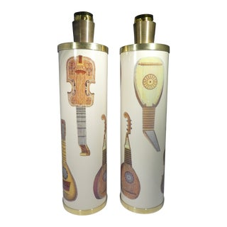 Italian Piero Fornasetti Musicale Lamps- a Pair For Sale