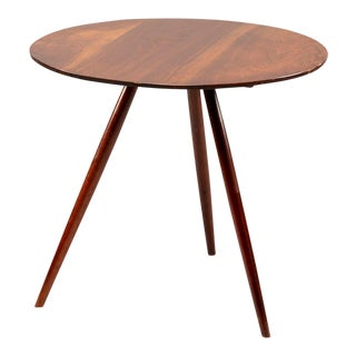 George Nakashima Splayed Leg Round Side Table For Sale