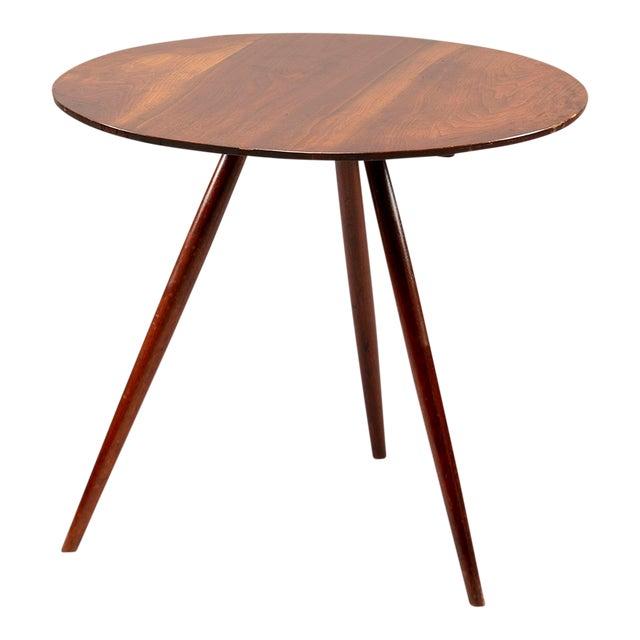 George Nakashima Splayed Leg Round Side Table For Sale