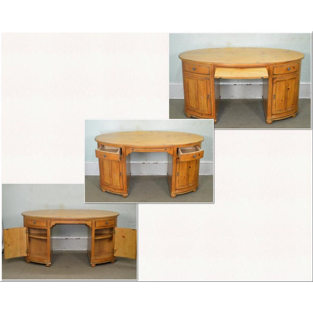 *STORE ITEM #: 17522 Drexel Heritage Pinehurst Collection Oval Desk AGE / ORIGIN: Approx. 20 years, America DETAILS /...