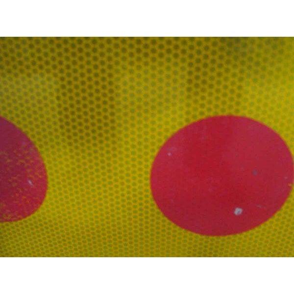 Modern Orange & Red Dots Metal Sign For Sale - Image 3 of 4