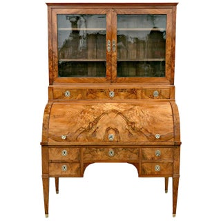 18th Century Louis XVI Period Bureau À Cylindre Cylinder Secretary Desk For Sale