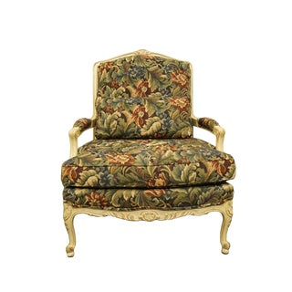 Late 20th Century Sherrill Furniture Louis XVI Accent Bergere Chair For Sale