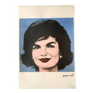 "Late 20th Century Andy Warhol Limited Edition ""Jackie, 1964"" Stone Signed & Numbered Lithograph Print For Sale"