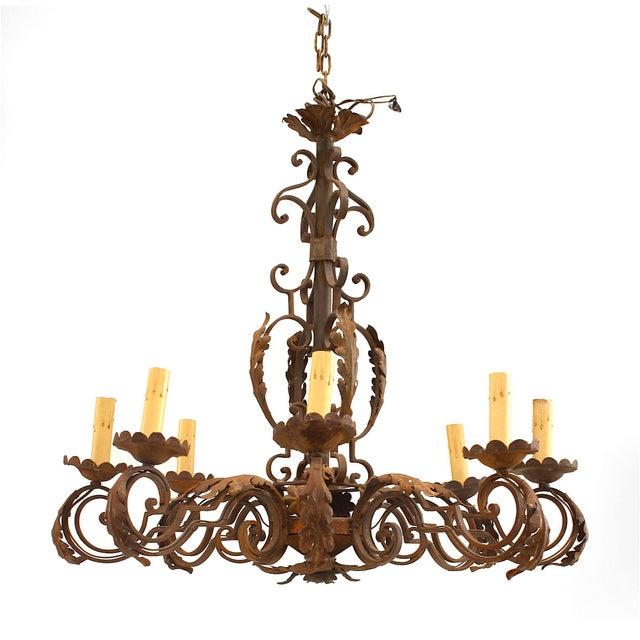Italian 20th Century Italian Renaissance Style Chandelier For Sale - Image 3 of 3