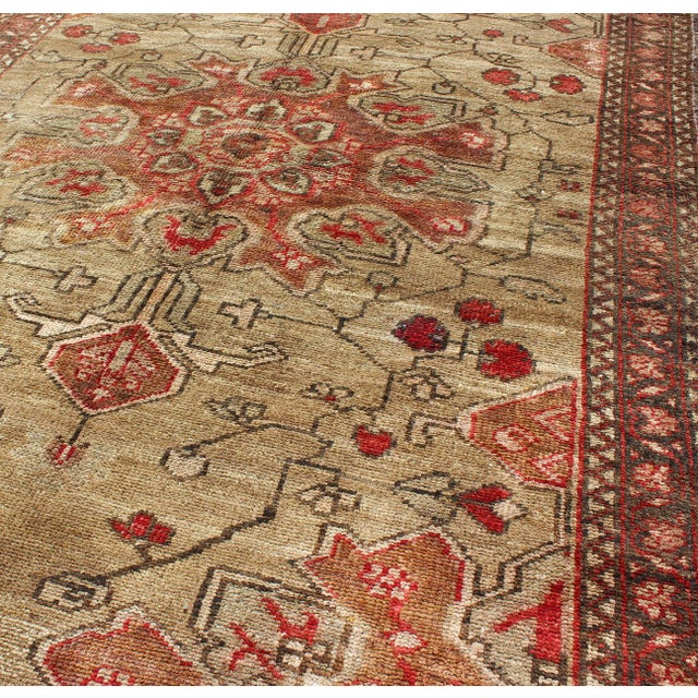 Textile Vintage Mid-Century Persian Rug - 4′2″ × 6′4″ For Sale - Image 7 of 11