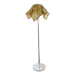 Mazzega Murano Topaz Handkerchief Floor Lamp by Carlo Nason For Sale