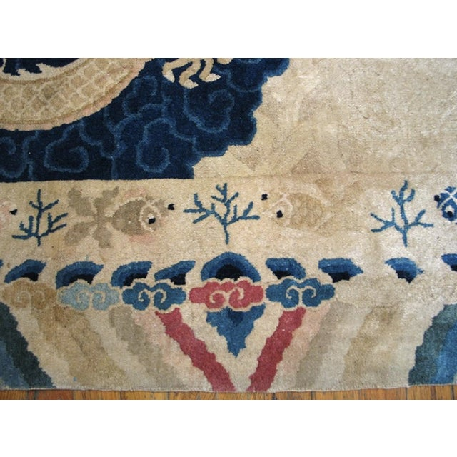 """Antique Chinese Peking Rug 4'2"""" X 6'10"""" For Sale In New York - Image 6 of 11"""