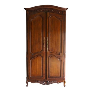 French Provincial Century Furniture Armoire For Sale