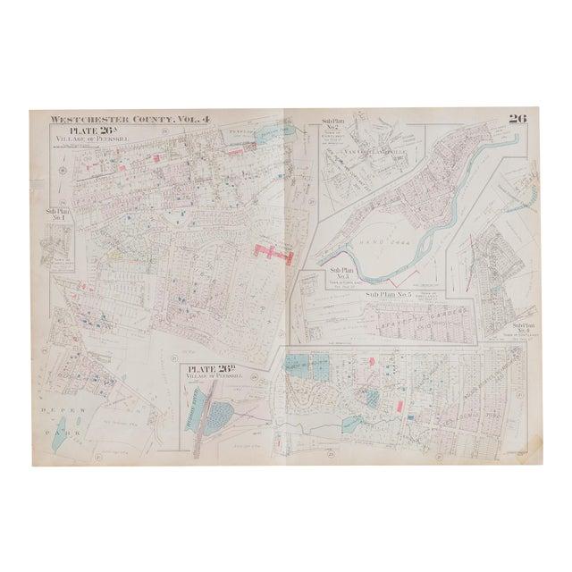 Vintage Hopkins Map of Village of Peekskill For Sale