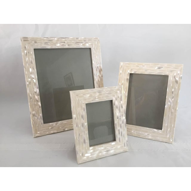 Modern Mother Of Pearl Frames Set Of 3 Chairish
