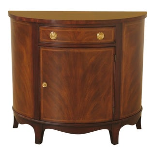 Henkel Harris Half Round Mahogany Commode Cabinet For Sale
