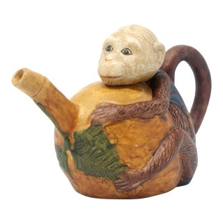 Vintage Monkey and Fruit Teapot For Sale