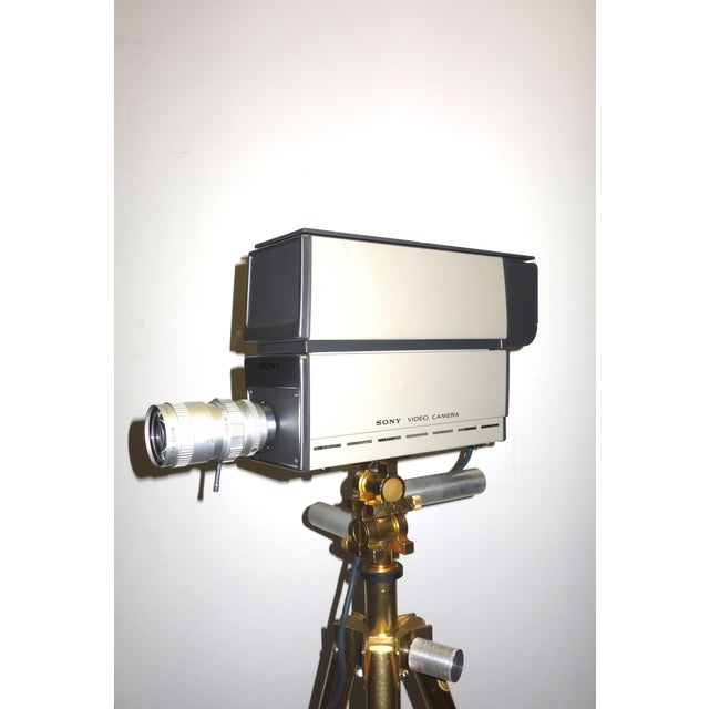 Industrial Sony Vintage Vidicon Industrial Video Camera Circa 1969-70 Complete With Tripod. ON SALE For Sale - Image 3 of 11