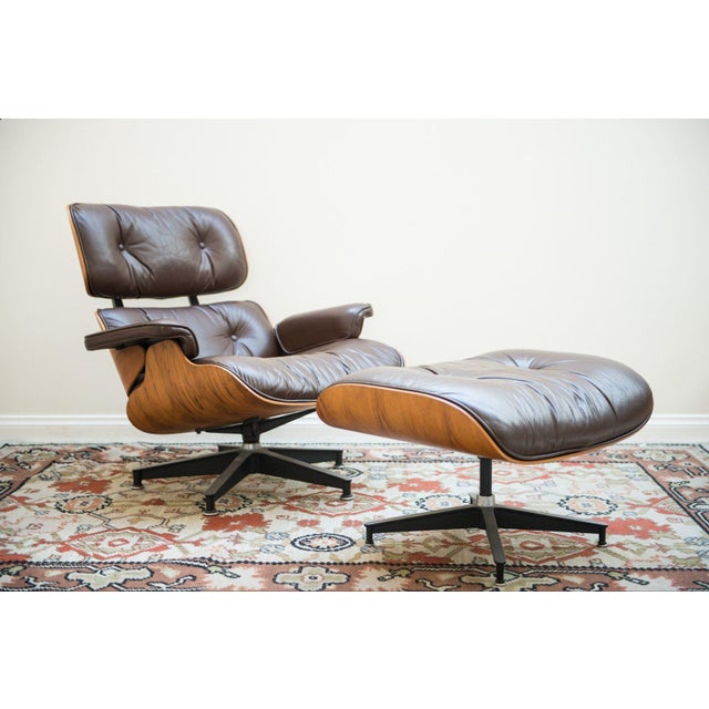 Danish Modern Herman Miller Eames Lounge Chair For Sale - Image 3 of 10