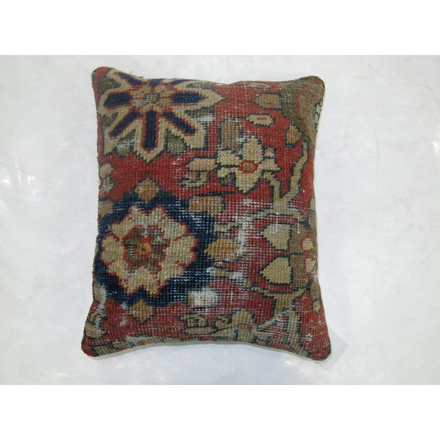 Shabby Chic Shabby Chic Mahal Rug Pillow For Sale - Image 3 of 3