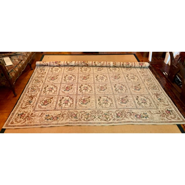 French Aubusson Needlepoint Rug - 8′6″ × 11′6″ For Sale - Image 10 of 11