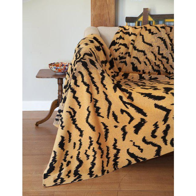 "Contemporary Calabria Cashmere Blanket, Mustard, 51"" x 71"" For Sale - Image 3 of 4"