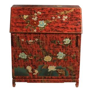 Vintage Oriental-Style Chinoiserie Secretary