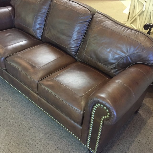 Whittemore Sherrill Leather Sofa - Image 4 of 11