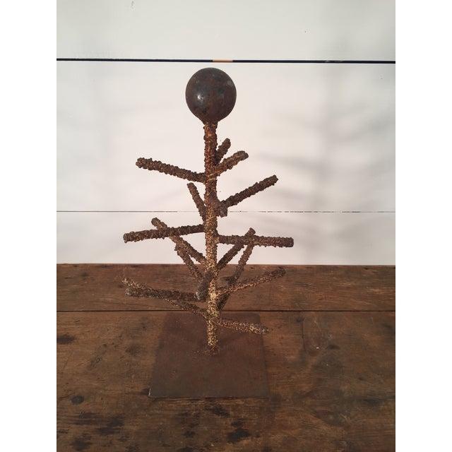 Brutalist Folk Art Tree Sculpture - Image 4 of 8