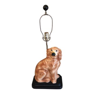 Antique Staffordshire Dog Lamp For Sale