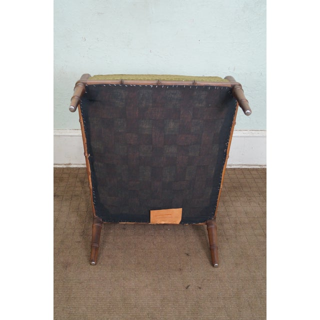 Century Furniture Co. Faux Bamboo Lounge Chair - Image 10 of 10