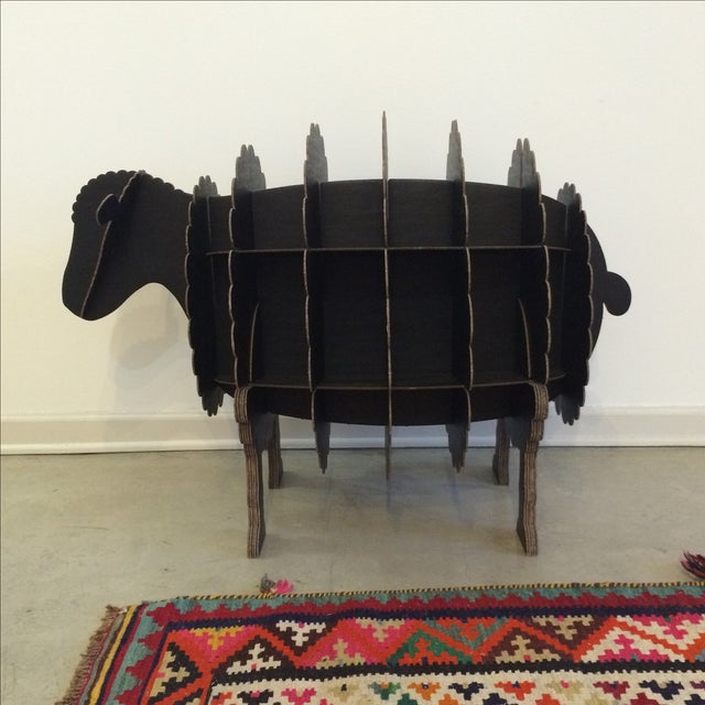Black Cardboard Sheep Storage Shelf - Image 5 of 6