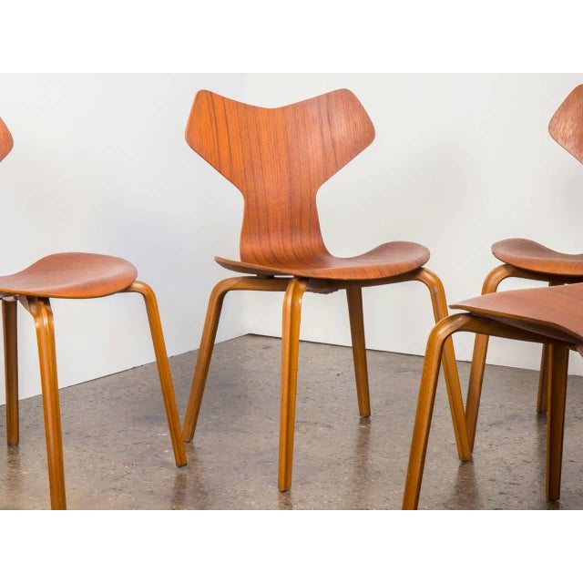 Set of Eight Arne Jacobsen Grand Prix Chairs - Image 4 of 10