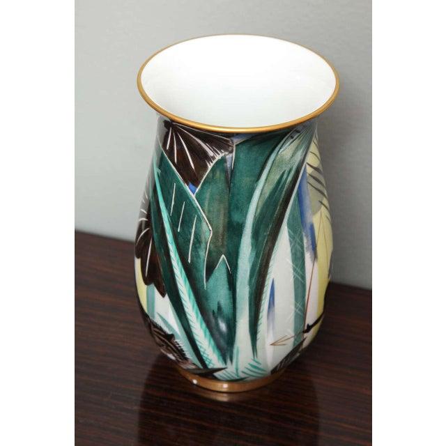 Art Deco Art Deco Porcelain Vase by Robert Bonfils For Sale - Image 3 of 8
