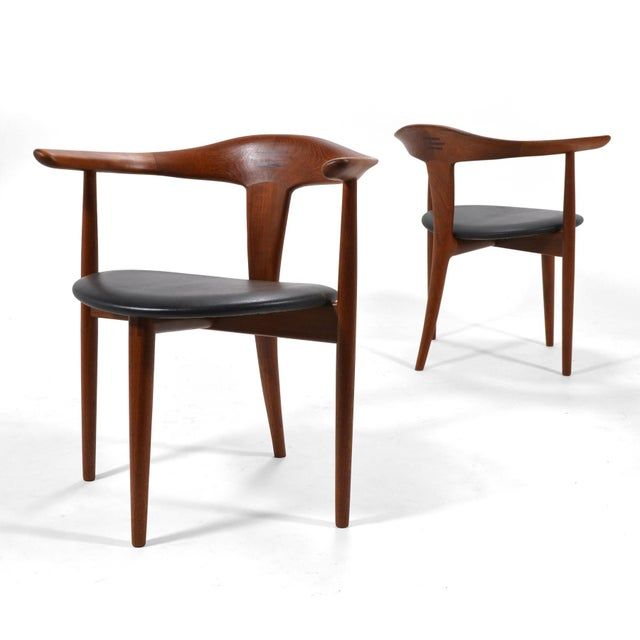 Erik Andersen and Palle Pedersen Pair of Rare Easy Chairs For Sale - Image 10 of 12
