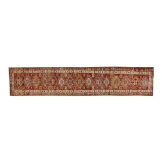Vintage Turkish Oushak Runner - 2′10″ × 14′1″