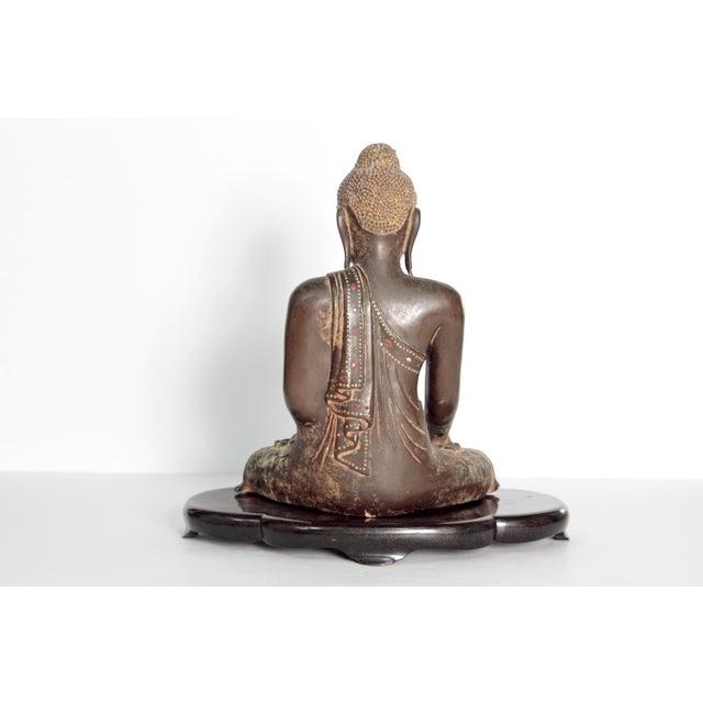 19th Century Patinated and Gilt Bronze Burmese Buddha - Image 4 of 11