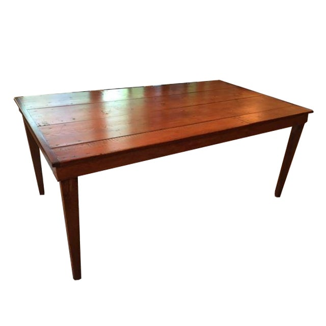 Reclaimed Wood Farm Table - Image 1 of 9
