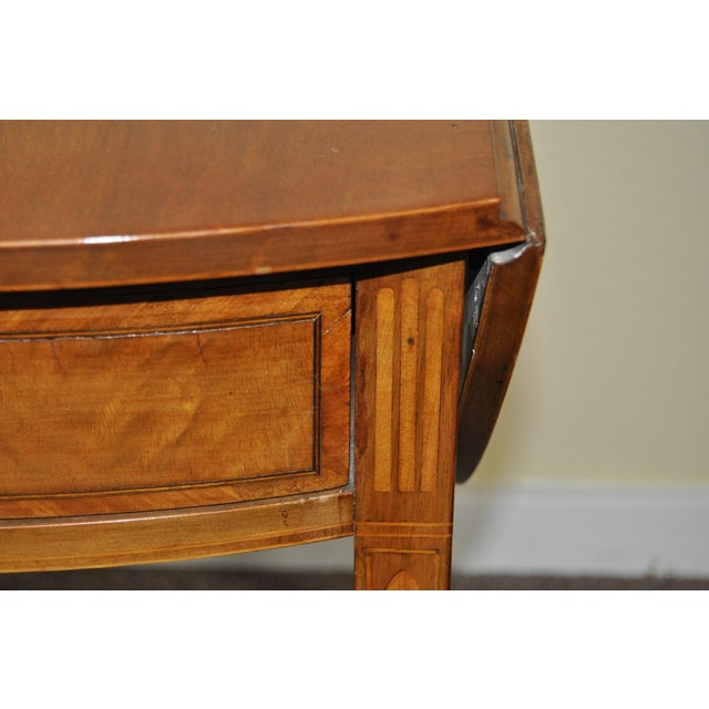 American Drop Leaf Side Table With Drawer C.1915 - Image 6 of 9