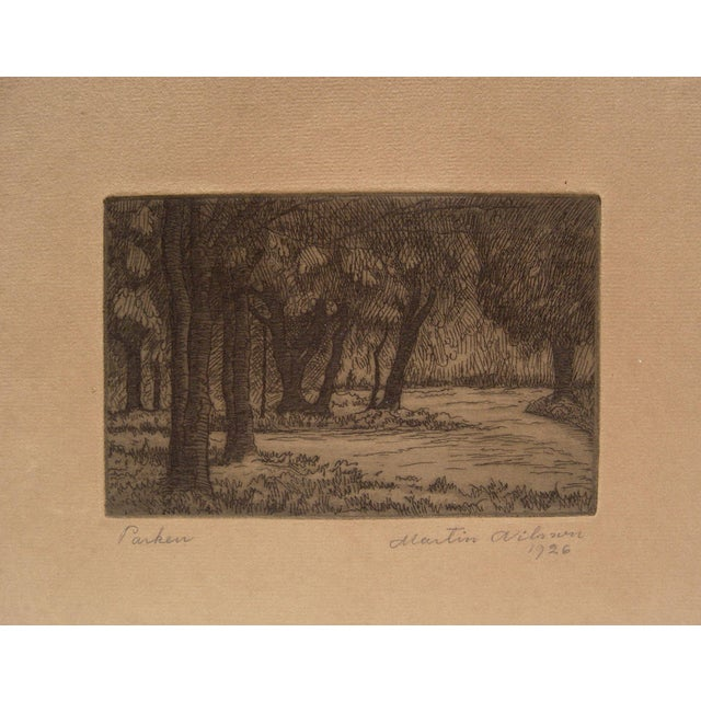 1926 Forest Etching For Sale