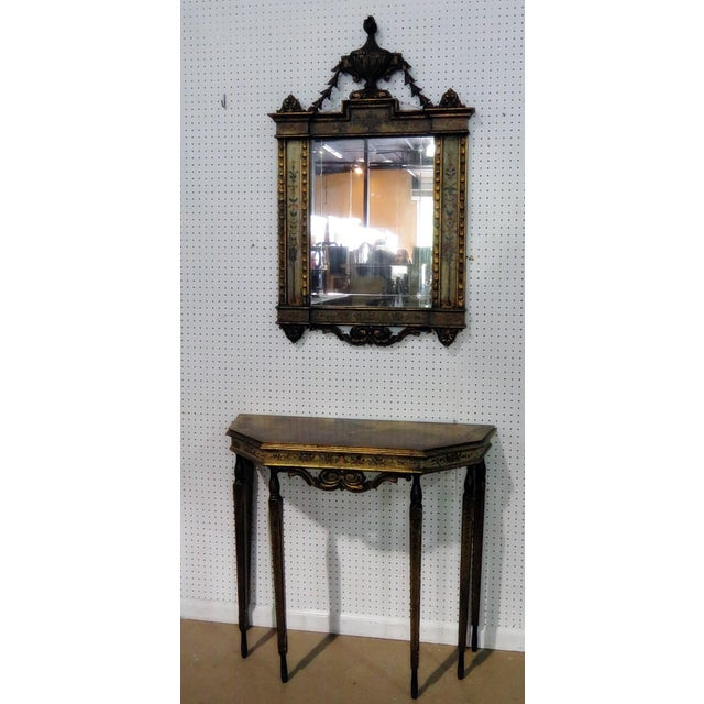 Early 20th Century Early 20th C. Venetian Style Console Table & Mirror For Sale - Image 5 of 5