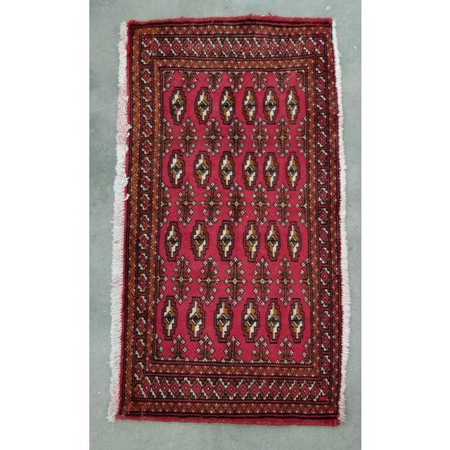 1950s Vintage Persian Rug - 1′8″ × 3′2″ For Sale - Image 10 of 10